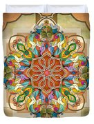 Mandala Birds Duvet Cover by Bedros Awak
