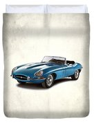 Jaguar E-type Duvet Cover by Mark Rogan