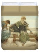 Ask Me No More....for At A Touch I Yield Duvet Cover by Sir Lawrence Alma-Tadema