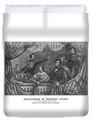 Assassination Of President Lincoln Duvet Cover by War Is Hell Store