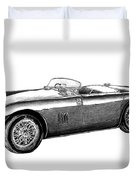 Aston Martin Db-5 Duvet Cover by Peter Piatt