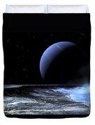 Astronaut Standing On The Edge Duvet Cover by Frank Hettick