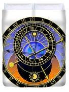 Astronomical Clock Duvet Cover by Michal Boubin