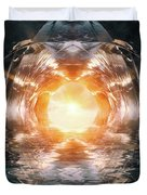 At The End Of The Tunnel Duvet Cover by Wim Lanclus