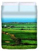 Atlantic View Doolin Ireland Duvet Cover by Teresa Mucha