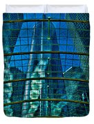 Atrium Gm Building Detroit Duvet Cover by Chris Lord