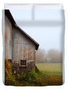Autumn Barn Duvet Cover by Jill Battaglia