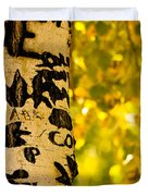 Autumn Carvings Duvet Cover by James BO  Insogna