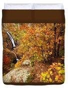 Autumn Falls Duvet Cover by Evgeni Dinev
