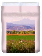 Autumn Flowers At Harvest Time Duvet Cover by James BO  Insogna