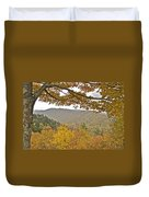 Autumn In The Smokies Duvet Cover by Michael Peychich