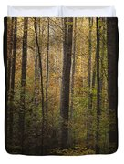 Autumn In The Woods Duvet Cover by Andrew Soundarajan
