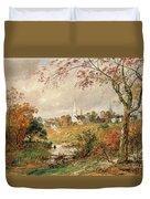 Autumn Landscape Duvet Cover by Jasper Francis Cropsey