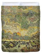 Autumn Landscape Duvet Cover by Vincent Van Gogh