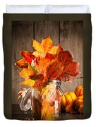 Autumn Leaves Still Life Duvet Cover by Amanda And Christopher Elwell