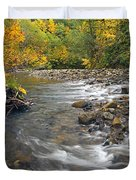 Autumn Meander Duvet Cover by Mike  Dawson