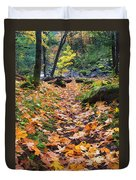 Autumn Path Duvet Cover by Mike  Dawson