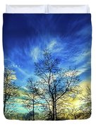 Autumn Sunset Duvet Cover by ABeautifulSky Photography