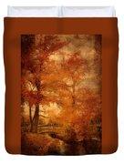 Autumn Tapestry - Lake Carasaljo Duvet Cover by Angie Tirado