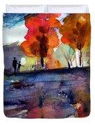 Autumn Walk Duvet Cover by Anne Duke