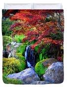 Autumn Waterfall Duvet Cover by Carol Groenen