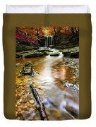Autumnal Waterfall Duvet Cover by Meirion Matthias