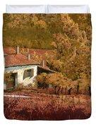 Autunno Rosso Duvet Cover by Guido Borelli