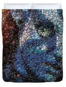 Avatar Neytiri Bottle Cap Mosaic Duvet Cover by Paul Van Scott