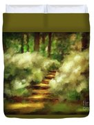 Azalea Stairs Duvet Cover by Lois Bryan