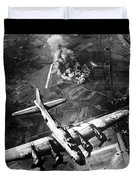 B-17 Bomber Over Germany  Duvet Cover by War Is Hell Store