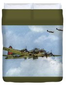 B-17 Flying Fortress Bomber  Duvet Cover by Randy Steele