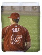 Babe Ruf Duvet Cover by Trish Tritz