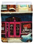 Bagels Etc Montreal Duvet Cover by Carole Spandau