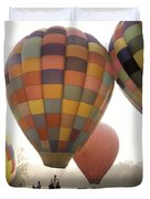 Balloon Day Is A Happy Day Duvet Cover by Rob Travis
