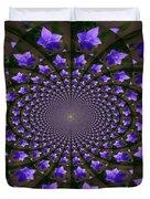 Balloon Flower Kaleidoscope Duvet Cover by Teresa Mucha
