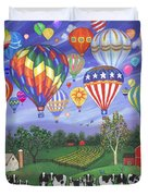 Balloon Race Two Duvet Cover by Linda Mears