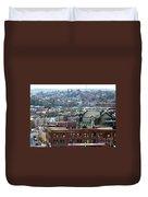 Baltimore Rooftops Duvet Cover by Carol Groenen