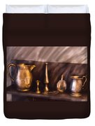 Bar - Ready For A Drink Duvet Cover by Mike Savad