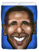 Barack Obama Duvet Cover by Kevin Middleton
