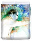 Barack Obama pointing at You Duvet Cover by Miki De Goodaboom