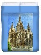 Barcelona Spain Duvet Cover by Irina Sztukowski