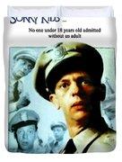 Barney Poster Duvet Cover by Joan  Minchak
