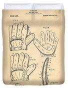 Baseball Glove Patent 1910 Duvet Cover by Digital Reproductions