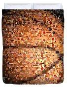 Basketball Mosaic Duvet Cover by Paul Van Scott