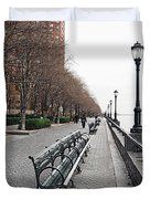 Battery Park Duvet Cover by Michael Peychich