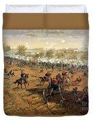 Battle Of Gettysburg Duvet Cover by Thure de Thulstrup