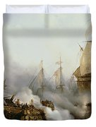 Battle of Trafalgar Duvet Cover by Louis Philippe Crepin