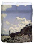 Beach at Honfleur Duvet Cover by Claude Monet