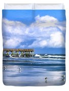Beach at Isle of Palms Duvet Cover by Dominic Piperata