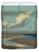 Beach At Low Tide Duvet Cover by Frederick Milner